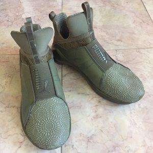 PUMA Olive Fierce Kurim 39s Cross-Trainer Shoes